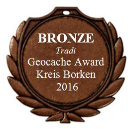 BRONZE (Tradi) - Geocaching Award Kreis Borken 2016